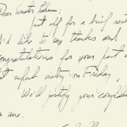 Letter: 1951 August 27