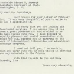 Letter: 1952 February 5
