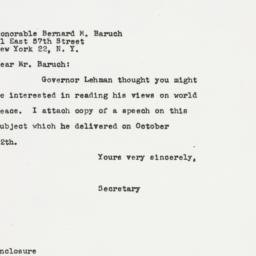 Letter: 1949 October 13