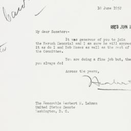 Letter : 1952 June 10