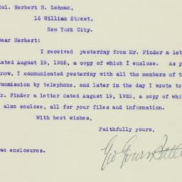 Letter : 1925 August 20