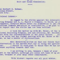 Letter: 1925 November 21