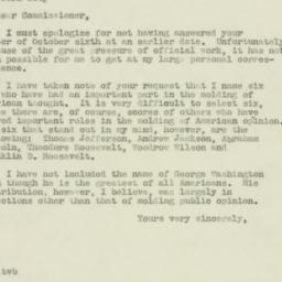 Letter : 1938 October 31