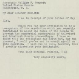 Letter : 1954 May 26