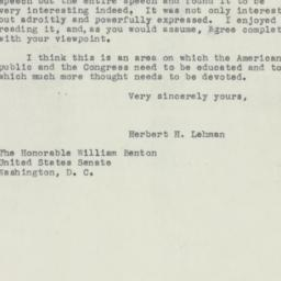 Letter: 1950 February 1