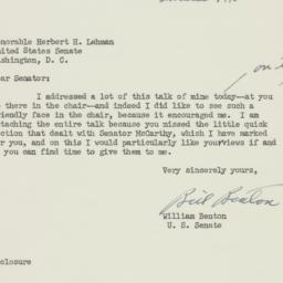 Letter: 1950 May 10