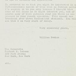 Letter: 1950 October 20