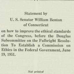 Pamphlet: 1951 June 19