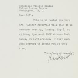 Letter: 1952 May 5