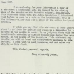 Letter: 1952 July 7