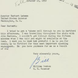 Letter: 1952 October 15