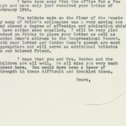 Letter: 1953 February 25