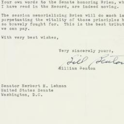 Letter: 1953 March 4
