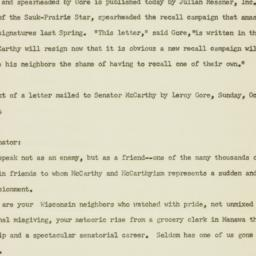 Press Release: 1954 October 18