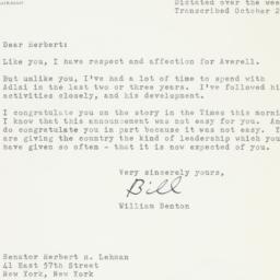 Letter: 1955 October 24