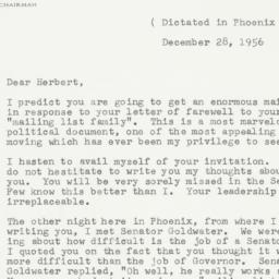 Letter: 1956 December 28