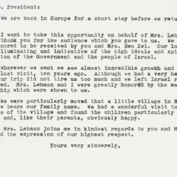Letter : 1959 May 5