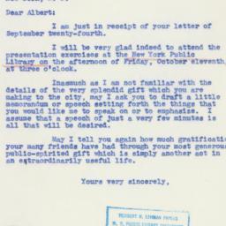 Letter : 1940 September 27
