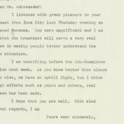 Letter: 1947 June 21