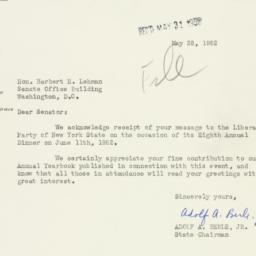 Letter: 1952 May 28