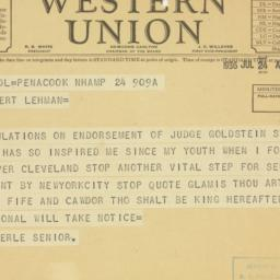 Telegram : 1936 June 24