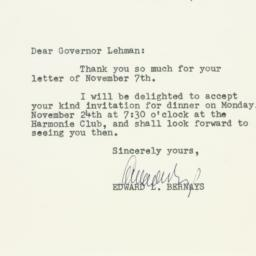 Letter : 1947 November 12