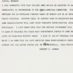 Telegram : 1946 June 20