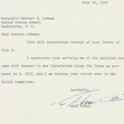 Letter : 1956 July 10