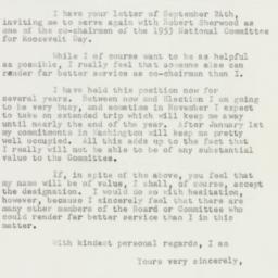 Letter : 1952 October 4