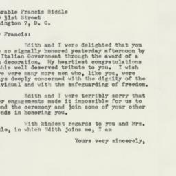 Letter : 1954 April 13
