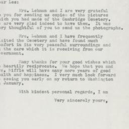 Letter : 1954 December 16