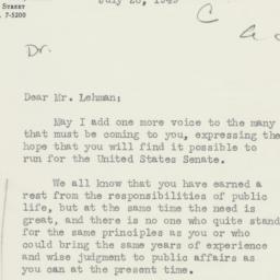 Letter: 1949 July 26