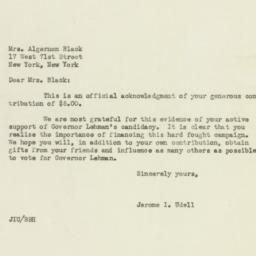 Letter: 1949 October 17
