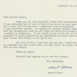 Letter: 1955 September 30