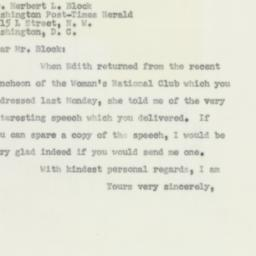 Letter: 1956 May 19