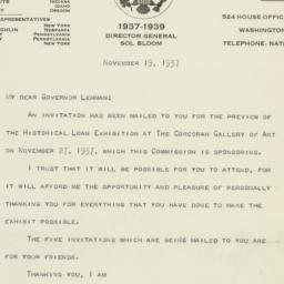 Letter: 1937 November 19