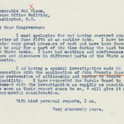 Letter : 1942 July 8