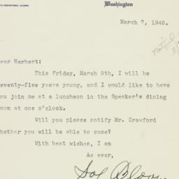Letter: 1945 March 7