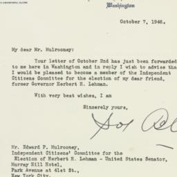 Letter : 1946 October 7