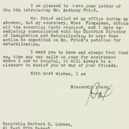 Letter: 1948 July 20