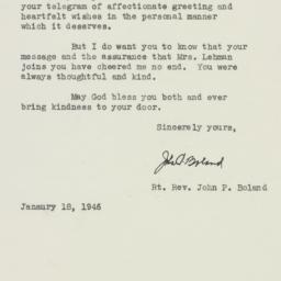 Letter : 1946 January 18
