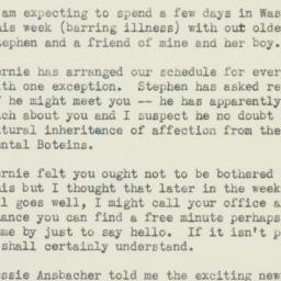 Letter : 1952 March 23