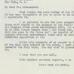 Letter : 1956 May 23