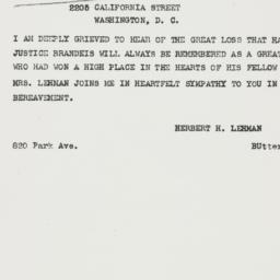 Telegram: 1941 October 6