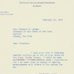 Letter : 1936 February 13