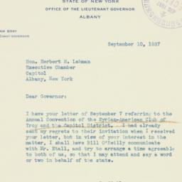 Letter : 1937 September 10