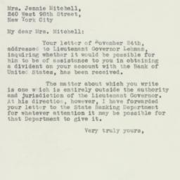 Letter : 1932 November 28