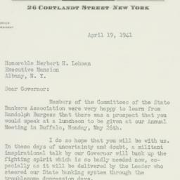 Letter : 1941 April 19