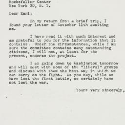 Letter : 1952 November 20