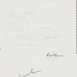 Letter: 1953 October 29